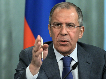 Meeting of Russian Foreign Minister Sergei Lavrov and his Syrian counterpart Walid Muallem