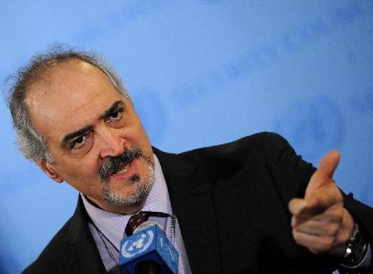 Il rappresentante permanente della Siria alle Nazioni Unite Dr. Bashar al-Jaafari