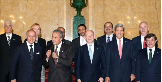 """La vera coalizione dell'opposizione """"siriana"""" è (USA - GB - Francia - Turchia - A'Saudita e Qatar)"""