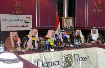 Conferenza stampa dei leader delle tribù siriane
