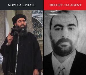 Foto Leader ISIL Abu Bakr Al-Bghdadi, Prima e dopo